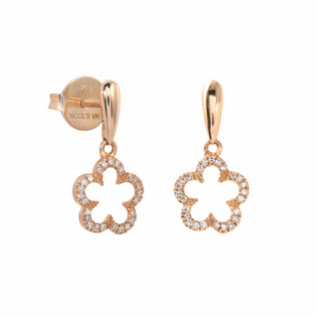 Gold flower earrings LITTLE DETAILS
