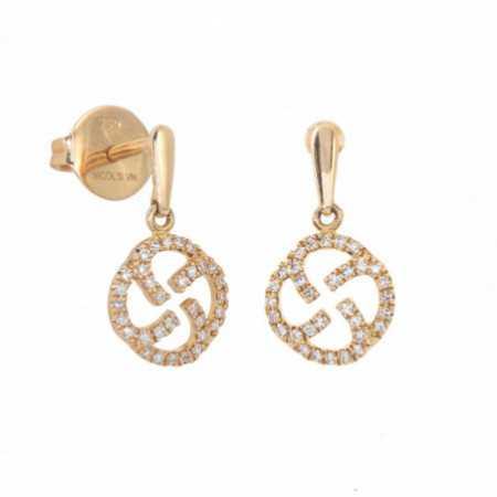 Earrings Gold Seal Templario LITTLE DETAILS