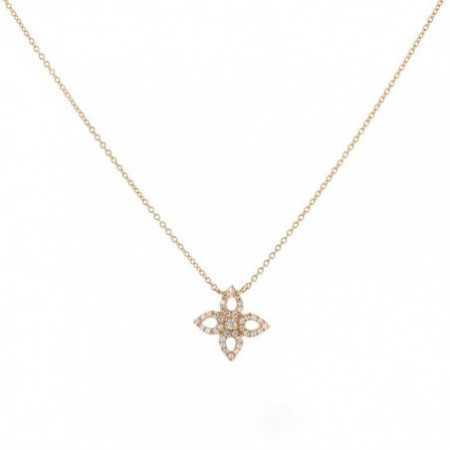 Peak Gold Flower Necklace LITTLE DETAILS