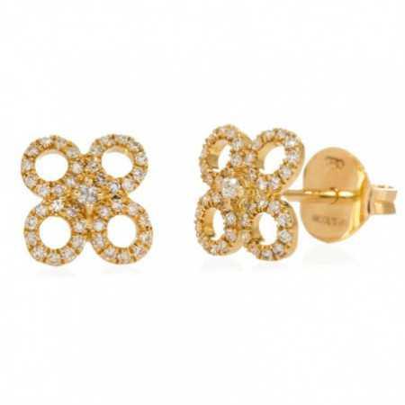 Gold Earrings Round Flower LITTLE DETAILS