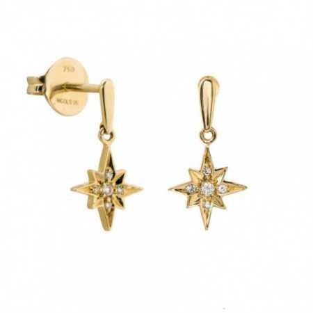 Gold earrings Starfall LITTLE DETAILS