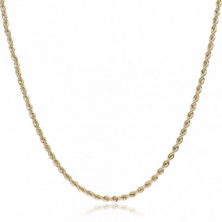 18kt Gold Chain SOLID CORD 4.5mm 60cm