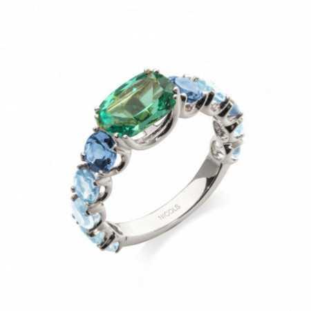 Topaz Green Quartz Ring RAINBOW