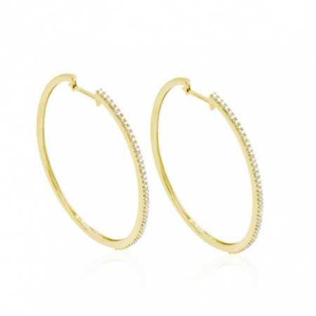 HOOP Gold Oval Hoop Earrings