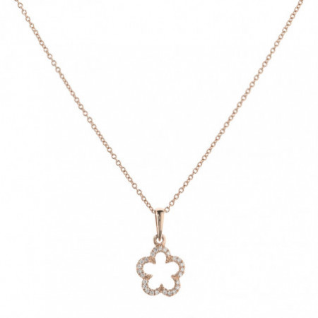 Gold Flower Necklace LITTLE DETAILS.