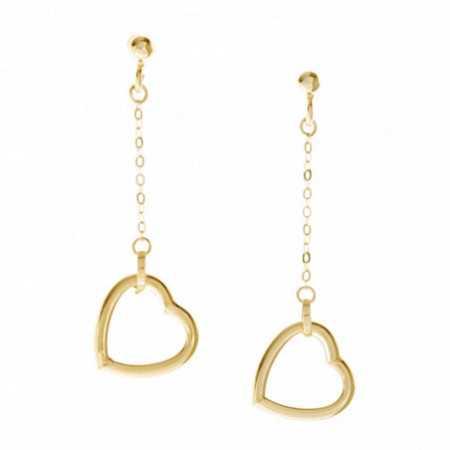 FREE LOVE Hearts Gold Earrings