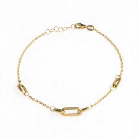 Gold Bracelet Rectangles LOVE FREE