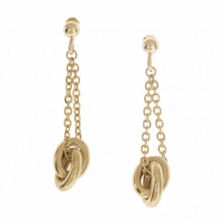 FREE LOVE Double Circle Gold Earrings
