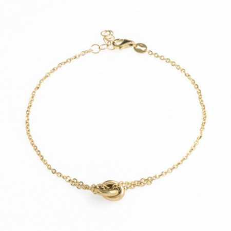 Gold Knot FREE LOVE Bracelet