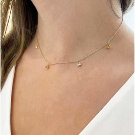 Necklace Pendants Citrine Stones and Lemon Quartz TRILLON
